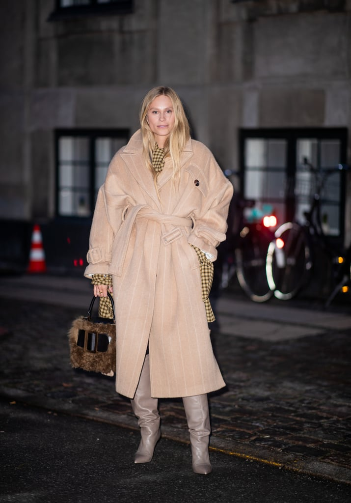 Bundle Up in a Thick Coat and Slouchy Boots