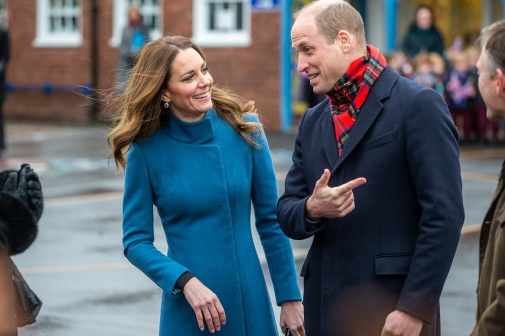 Kate Middleton Rewears Her Blue Catherine Walker Coat