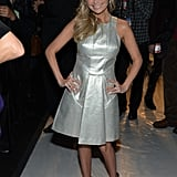 Kristin Chenoweth posed before the Project Runway fashion show in NYC on Friday.