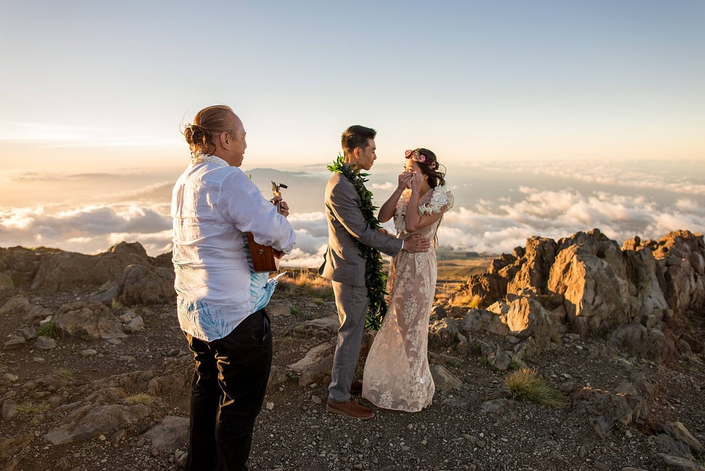 Nobody knew about Michael and Khim's breathtaking Maui, HI, elopement besides the couple, the minister, and their photographer, Angela. See the wedding here!