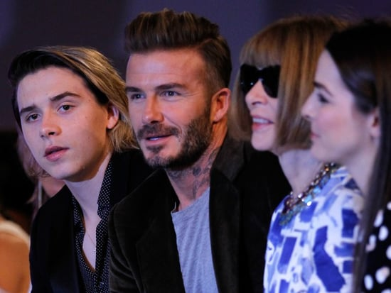 Victoria's Biggest Fans! Brooklyn and David Beckham Sit Front Row at Her Fashion Show
