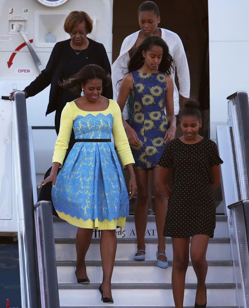 Michelle, Sasha, and Malia Obama