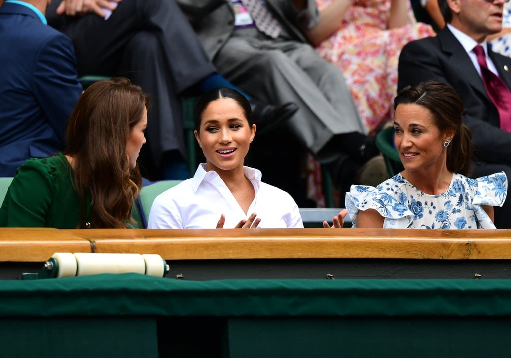 Meghan Markle and Kate Middleton at Wimbledon 2019