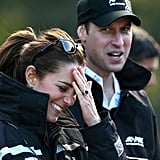 Kate couldn't keep it together during her sporty day with Prince William on the Shotover River in Queenstown, New Zealand.
