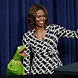 And then he admired her presidential wave.