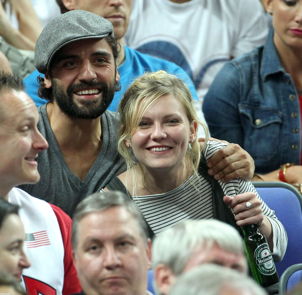 Kirsten Dunst And Oscar Issac Were All Smiles As They Watched The