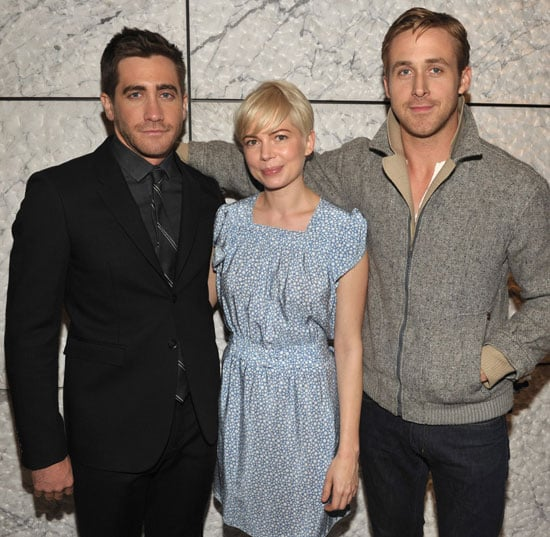Pictures of Jake Gyllenhaal, Michelle Williams, and Ryan Gosling at a Blue Valentine Screening