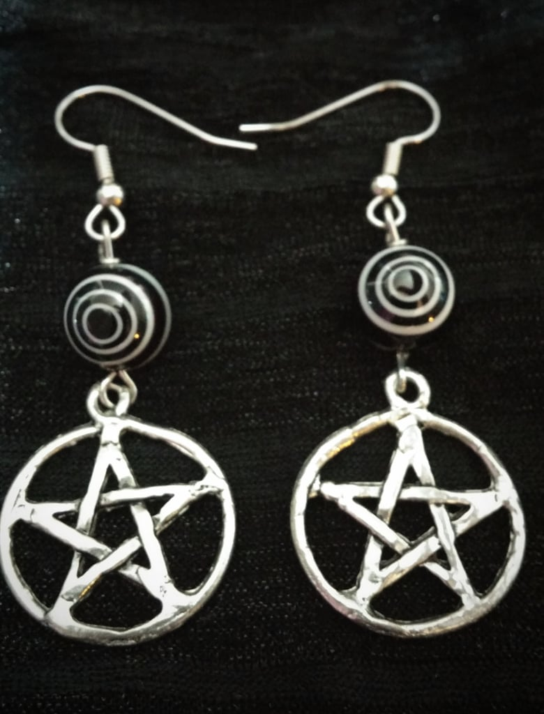 Coven Pentacle Earrings