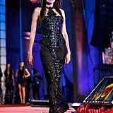 Nieves Alvarez wore Roberto Cavalli on the runway at the 2013 Life Ball in Vienna, Austria.