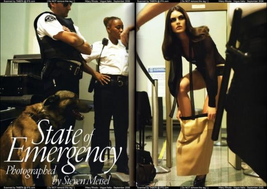 State of Emergency Fashion Spread in Vogue Italia