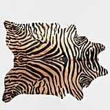Zebra-Print Leather Rug ($699)