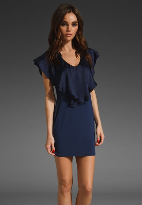 A pretty open neckline that's just begging for a gorgeous statement piece.  Vava by Joy Han Gabrielle Mini (approx $63)