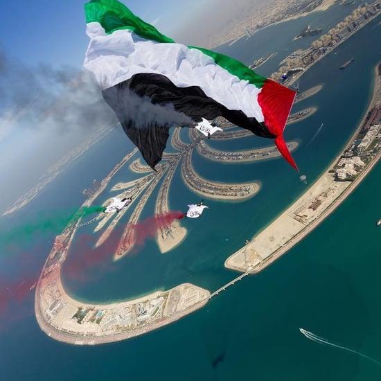 الإمارات تدخل موسوعة غينيس بأكبر علم يحلق أثناء القفز الحر