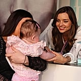 Miranda Kerr gushed over a small fan.