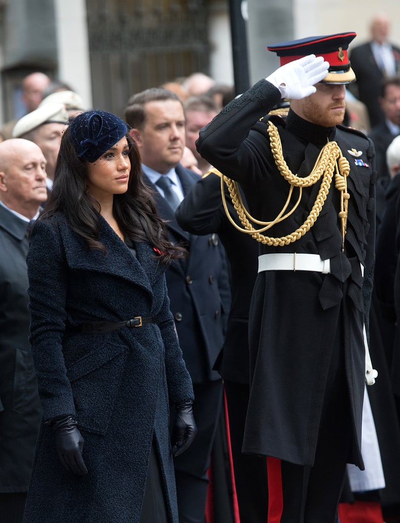 "Prince Harry and Meghan Markle attended the first of a series of important remembrance events on Thursday when they paid a visit to the Field of Remembrance at Westminster Abbey. Organised by The Poppy Factory, the Field of Remembrance has been held in the grounds of the Abbey since November 1928, and features hundreds of wooden crosses decorated with poppies, in tribute to those who lost their lives serving in the armed forces. During their visit, the royal couple both laid their own crosses in a larger arrangement. Harry, in full uniform, gave a salute, while Meghan lowered her head out of respect, before they listened to ""The Last Post"", the famous bugle call played at Commonwealth military funerals and remembrance events. Harry and Meghan were supposed to be joined by the Duchess of Cornwall for this event, one of a number of royal engagements over the coming days in the run up to Armistace Day. Unfortunately, Camilla had to cancel her appearance due to a chest infection, therefore Harry and Meghan represented the royal family alone. As a military man himself, with years of service and two tours of Afghanistan under his belt, nobody was better placed to do this than the Duke of Sussex. Keep reading to see photos from this poignant event."