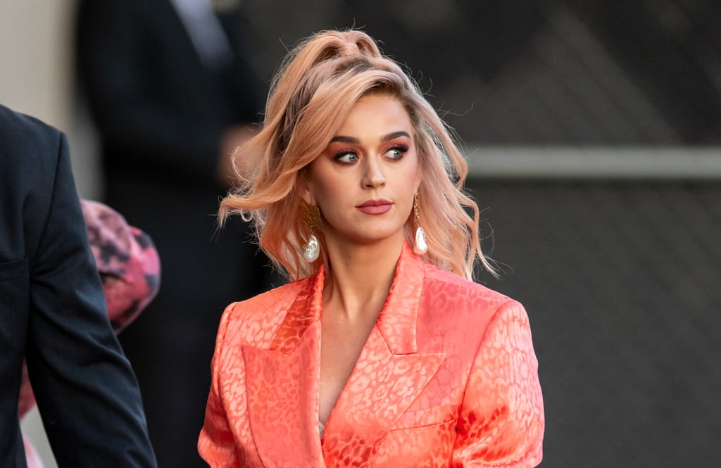 Katy Perry Debuts Long Peach Bob Wig