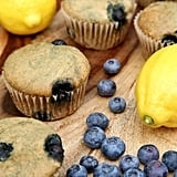 Low-Sugar, High-Protein Lemon Blueberry Protein Muffins