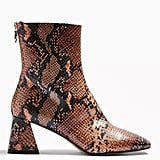 Topshop Breeze Snake Square Toe Boots