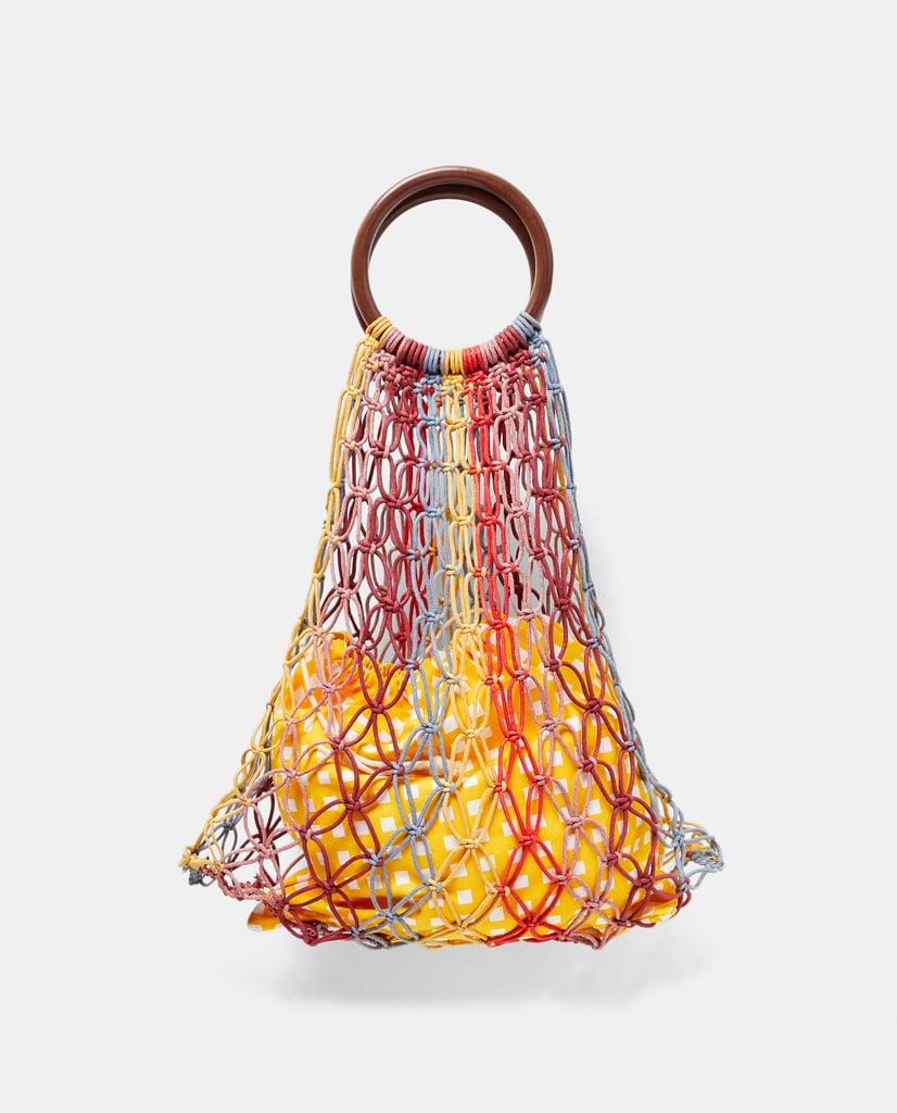 Zara Bag With Wooden Handle