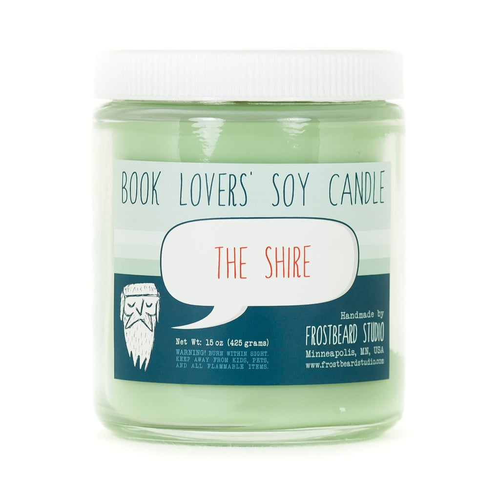 The Shire candle ($18) with oakmoss, aloe, clover, and pipe tobacco notes