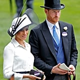 Some people noted that Meghan chose not to wear her Royal Ascot ID badge on her Givenchy dress, even though Prince Harry pinned his to his jacket.