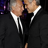 Dustin Hoffman and George Clooney