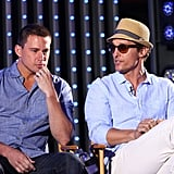 Channing Tatum and Matthew McConaughey discussed their new film at Universal City Walk.