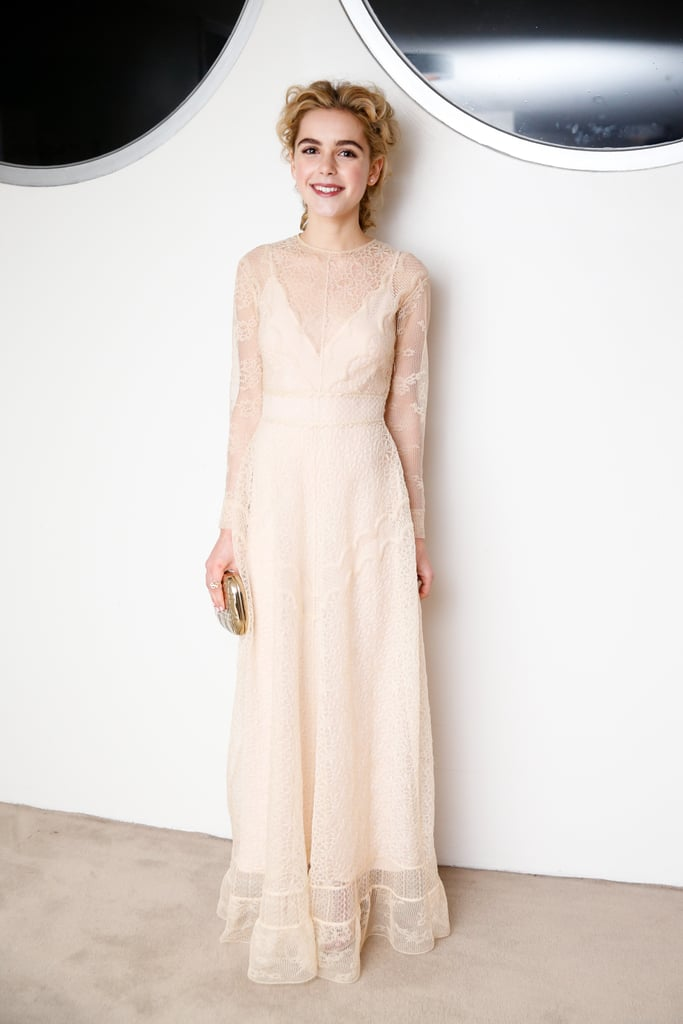 Wearing Dior.