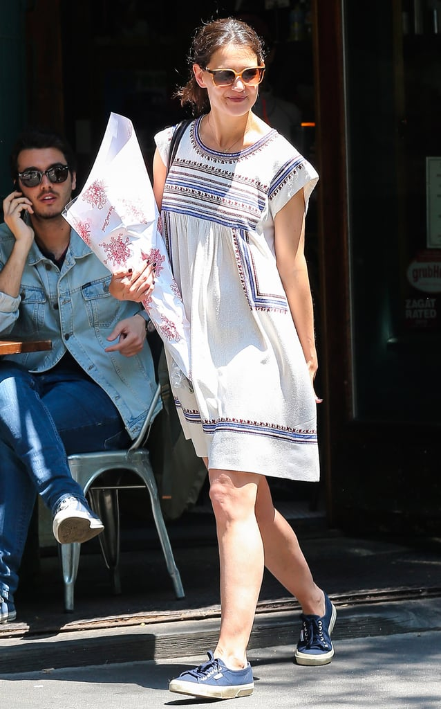 Katie Holmes enjoyed a sunny day out in NYC wearing a ...