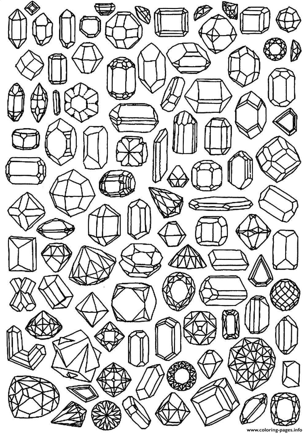 Get The Coloring Page Jewels 50 Printable Adult Coloring Pages