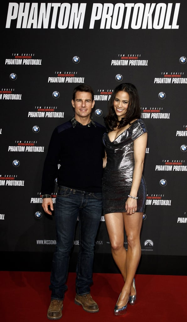 Tom Cruise and Paula Patton continued their traveling ways with a stop in Munich today. They've been promoting Mission: Impossible — Ghost Protocol around the world and have already popped up in Russia, India, and Japan. Tom and Paula were joined by costars Anil Kapoor and Simon Pegg at their movie's debut at the Dubai Film Festival earlier this week, but the trip wasn't just about work. Tom also visited the Taj Mahal and posed for a few pictures with a crowd of fans. His action-packed franchise is currently in the spotlight, but there's also exciting news that Tom is working on a Top Gun sequel.