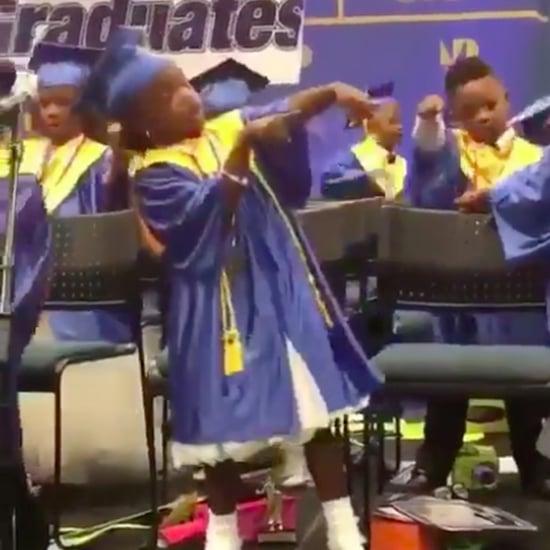 Girl Dancing at Graduation Video