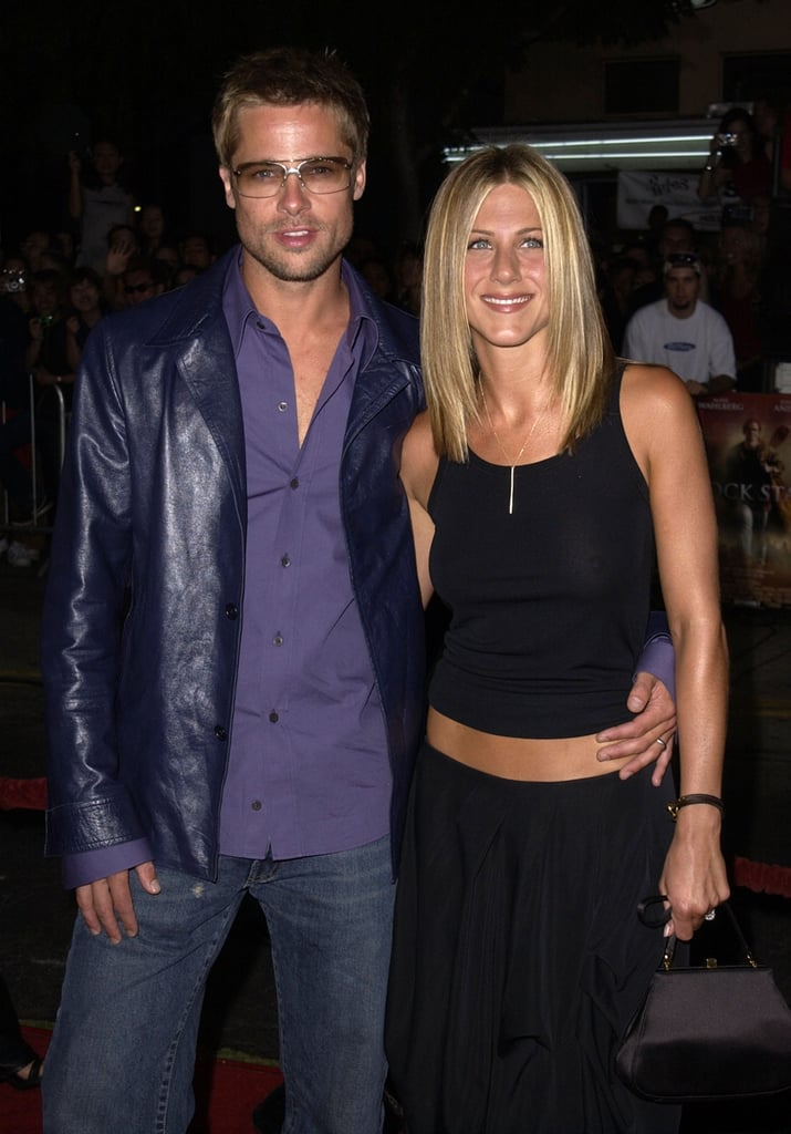 Brad looked just like a rock star at the September 2001 premiere of Rock Star with Jennifer Aniston in LA.