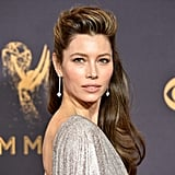 Jessica Biel Hair and Makeup at the Emmys 2017