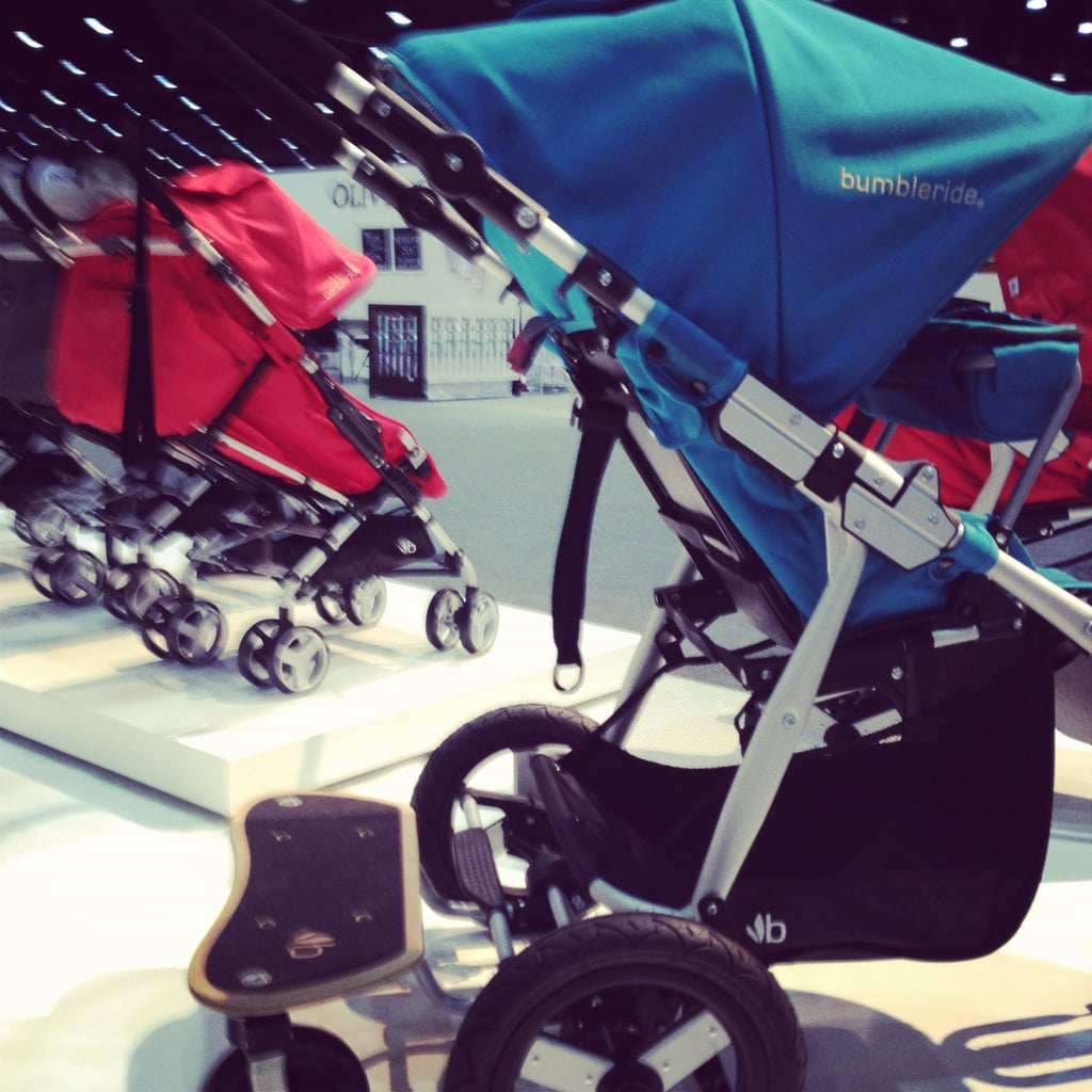 The 2013 Bumbleride Indie is more suitable for jogging than previous versions — it has a longer base, a new footwell, and a new harness that is harder for tots to use. It also has a new, wooden toddler board that supports up to 50 pounds of kid weight.