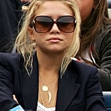 Ashley attended the US Open in 2004 rocking the look with layered necklaces and a blazer.