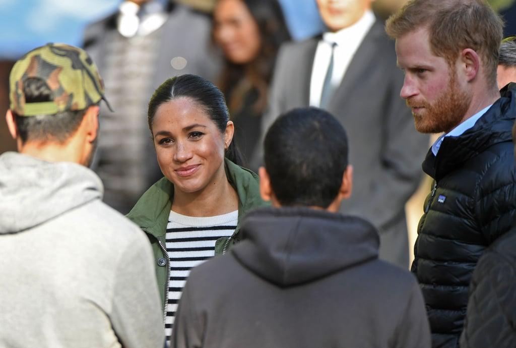 Meghan Markle's Green J.Crew Jacket in Morocco