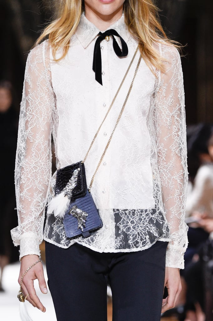 At Lanvin's Paris Fashion Week show, models layered up on crossbody cases.