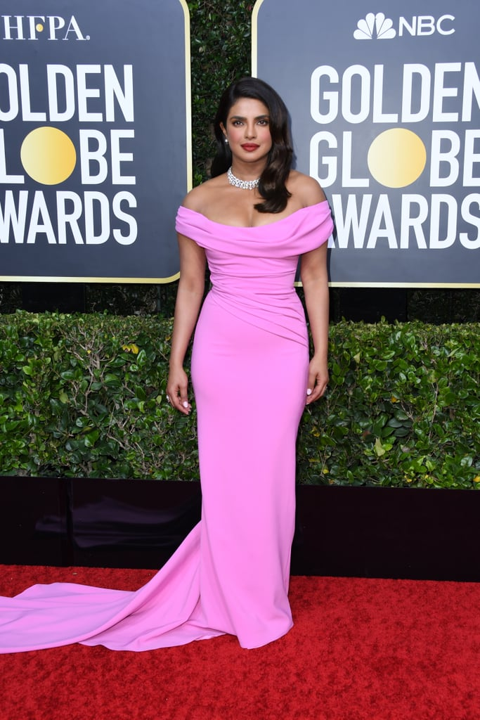 See Priyanka Chopra's Glam Pink Dress at the Golden Globes