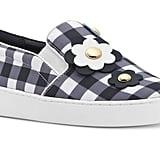 Michael Kors Keaton Floral Gingham Slip-On Sneakers
