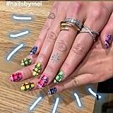 Dua Lipa's Tartan Nail Art For Fall