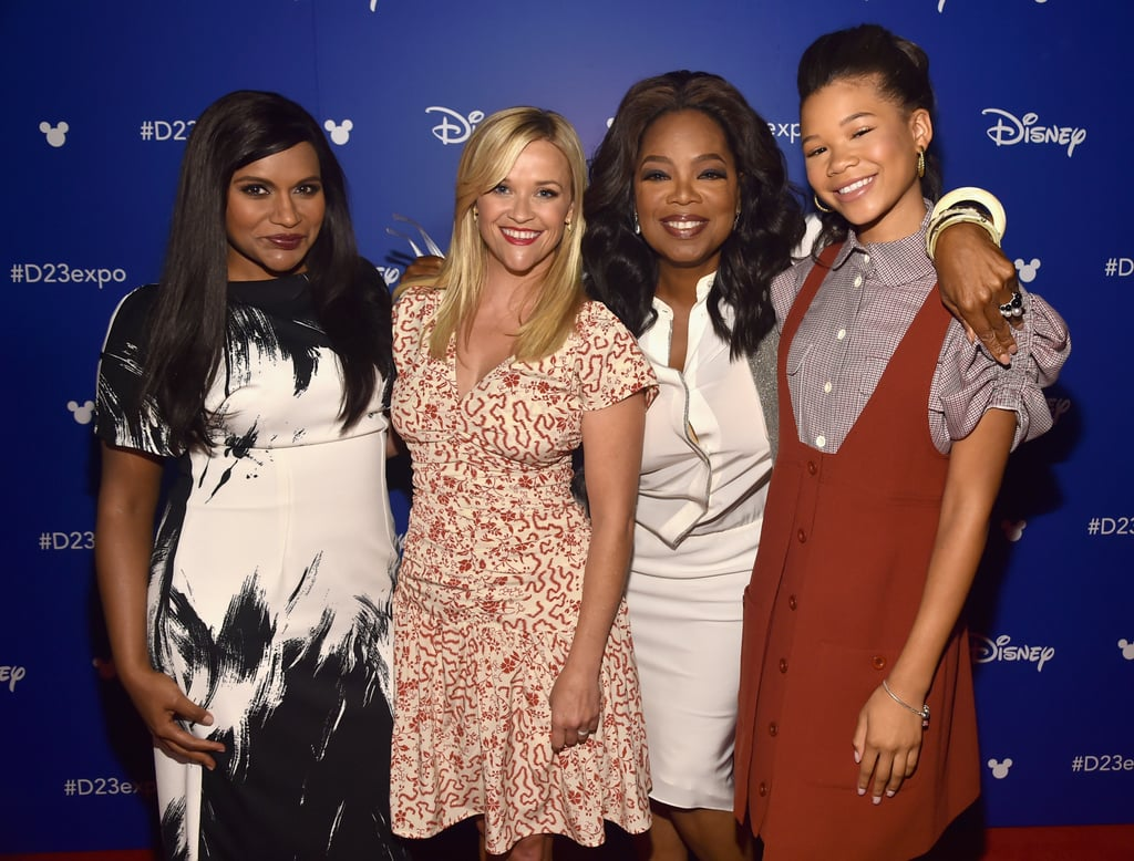 A Wrinkle in Time doesn't come out until March 9, but it's already one of the most-anticipated movies of 2018. Not only is it based on Madeleine L'Engle's critically acclaimed novel of the same name, but the film also has an incredible group of women behind it. Oprah Winfrey, Reese Witherspoon, and Mindy Kaling will play Mrs. Which, Mrs. Whatsit, and Mrs. Who, respectively, while newcomer Storm Reid will star as the lead role, Meg Murry. Not to mention the project comes from Ava DuVernay, who recently made history as the first woman of color to direct a live-action movie with a budget of more than $100 million.  As the women get ready to light up the screen, they have been letting their offscreen friendship shine just as bright. Aside from goofing off with each other when they were filming in New Zealand, the ladies have shown off their bond during award shows and on the red carpet. See their sweetest moments together ahead.       Related:                                                                                                                                Disney's A Wrinkle in Time Trailer Is Finally Here, and It's Mesmerizing!