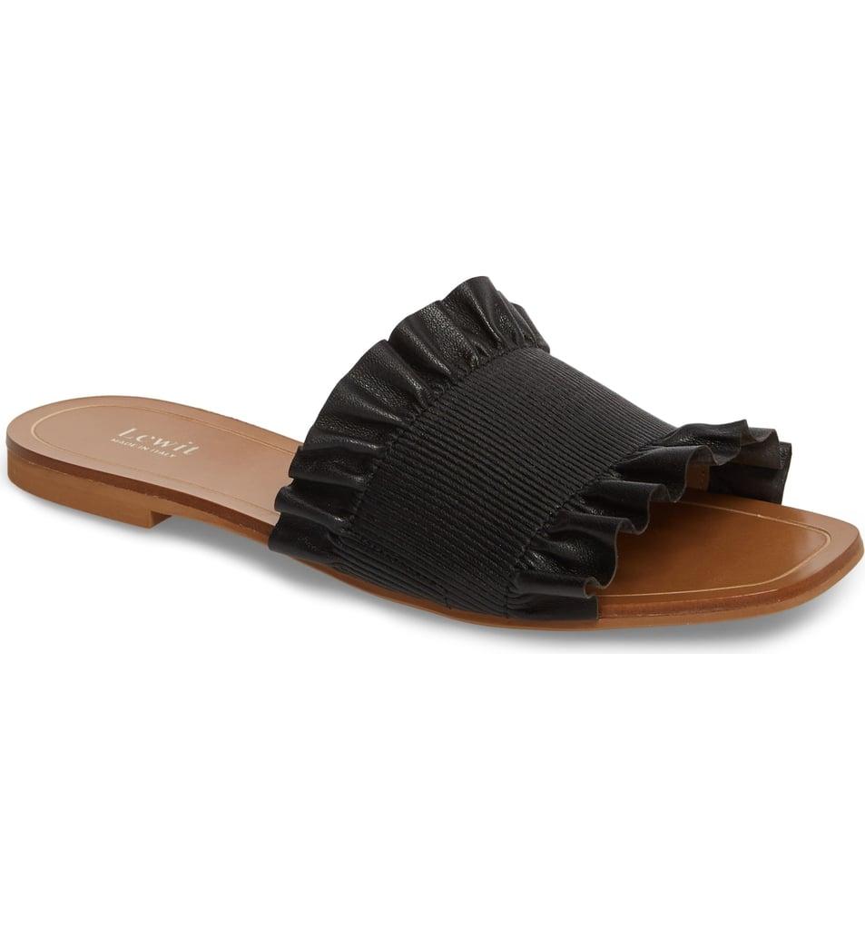 Lewit Cassandra Ruffle Slide Sandals