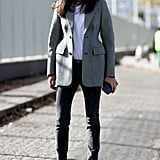 Balenciaga jacket at Paris Fashion Week