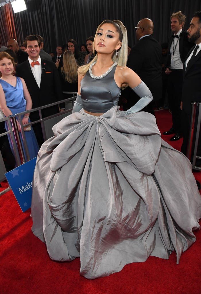 ariana grande's dress at the 2020 grammy awards  popsugar