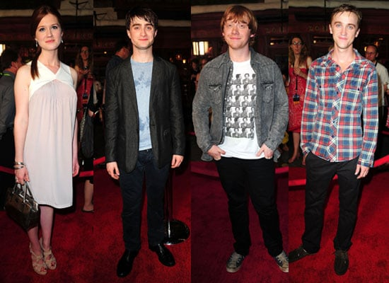 Pictures of Harry Potter Cast at Wizarding World Including Bonnie Wright, Daniel Radcliffe, Rupert Grint, Tom Felton 2010-06-17 01:30:31