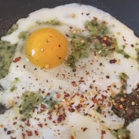 TikTok's Pesto Eggs Recipe With Photos