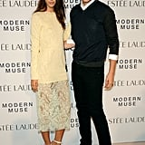 Kate King and Wes Gordon braved the New York rain for Estée Lauder's Modern Muse fragrance launch.