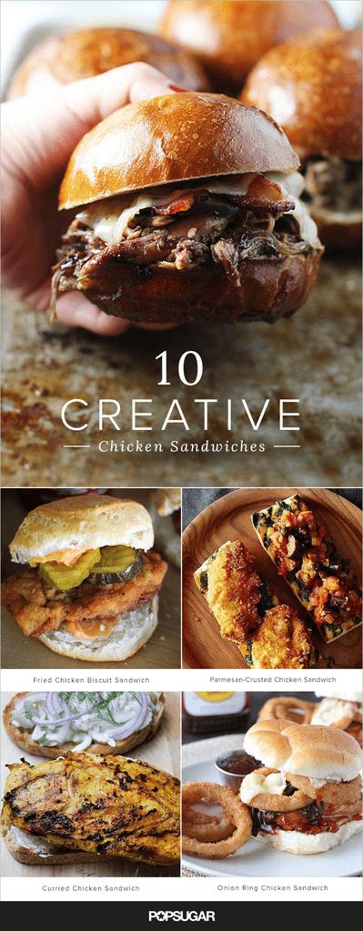 Get the recipes: creative chicken sandwiches