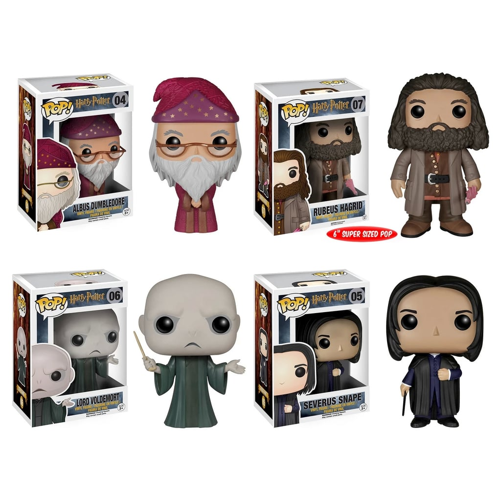 Funko Harry Potter POP! Collectors Set Featuring Albus Dumbledore, Rubeus Hagrid, Lord Voldemort, and Severus Snape